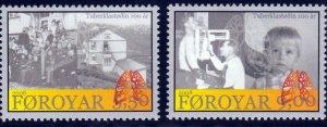 Faroe Islands - 2008 - Tuberculosis Santorium  MNH set # 497-498