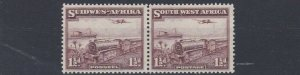 SOUTH WEST AFRICA  1937  S G 96  1 1/2D  PURPLE BROWN  MH