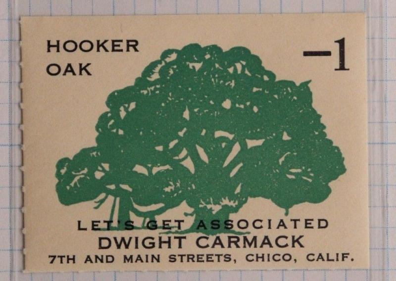 Hooker Oak tree Let's get Associated Dwight Carmack Chico CA poster trade oil co