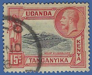 Kenya,Uganda and Tanganyika #49 1935 Used  Toned Back