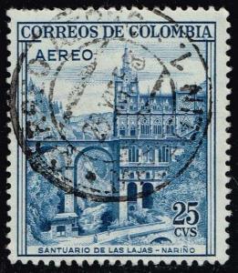 Colombia #C307 Las Lajas Shrine - Narino; Used (0.25)