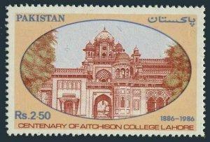Pakistan 671,MNH.Michel 678. Aitchison College, Lahore,centenary,1986.