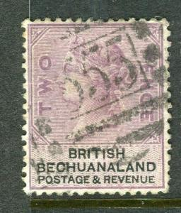 BECHUANALAND; 1888 early classic QV issue fine used 2d. value, Postmark