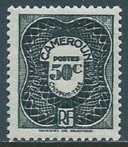 Cameroun, Sc #J26, 50c MH