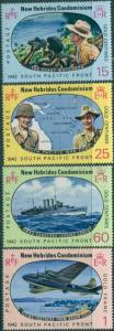 New Hebrides 1967 SG125-128 Pacific War set MLH
