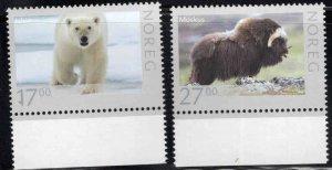 Norway Scott 1636-1637, 2011 MNH** Wildlife set CV $15.50