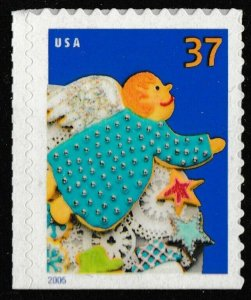 US 3955 Holiday Cookies Angel 37c single (1 stamp) MNH 2005