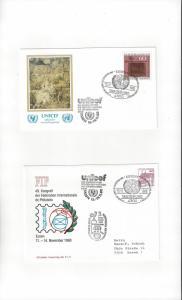 UN Stamp Shows Germany ESSEN 1 1980 2 Dif