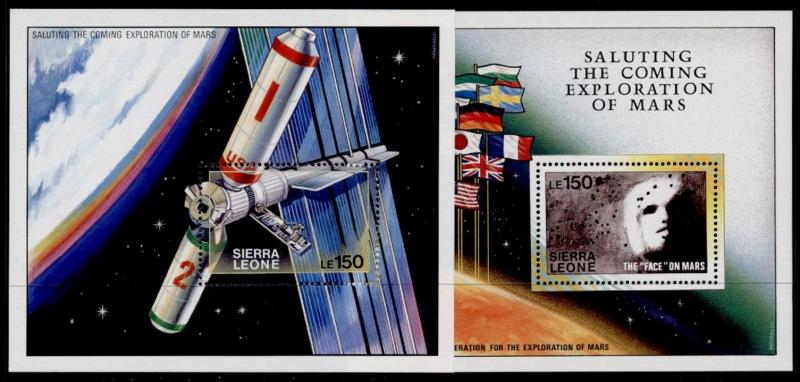 Sierra Leone 1171-71a MNH Space Station, Flags