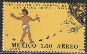 MEXICO C611, Centenary of Mexicos admission to the UPU USED. VF. (713)