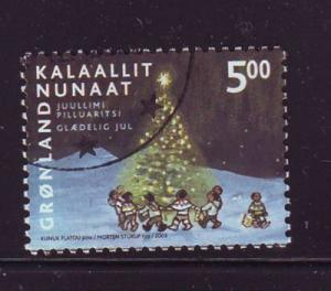 Greenland Sc 420  2003 5 kr Christmas stamp used