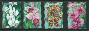 SINGAPORE SG944/7 1989 ORCHIDS MNH