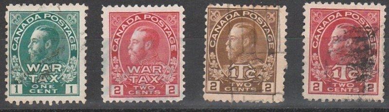 MR1-MR4 Canada Used War Tax Admirals