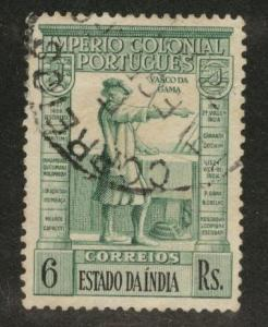 Portuguese India Scott 442 Used from 1938 common design set