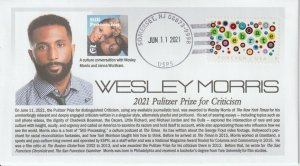 6° Cachets Pulitzer Prize 2021 Wesley Morris for Criticism
