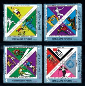 [44724] Yemen 1972 Olympic games French Champions Fencing Cycing Boxing MNH