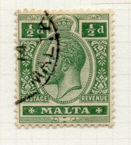 Malta 1914-22 Early Issue Fine Used 1/2d. 321504