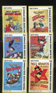 GUYANA DISNEY SET OF 50 DONALD DUCK CARD STAMPS ENGLISH  MINT NH PARTIALLY SHOWN