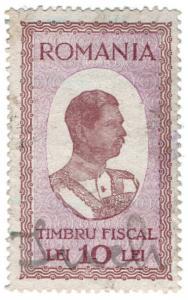 (I.B) Romania Revenue : Duty Stamp 10L