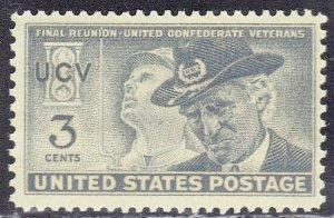 USA SCOTT #998  MNH  1951  CONFEDERATE VETS FINAL REUNION  SEE SCAN
