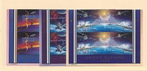 United Nations, NY 609-10,GEN 220-21, VIE 133-34,Planet, MNH