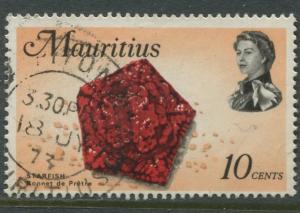 Mauritius -Scott 343 - Fish Definitive Issue -1969 - FU - Single 10c Stamp