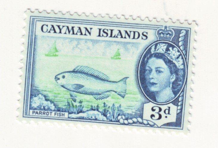 J22168 Jlstamps 1953-9 cayman island part of set mnh #141 fish