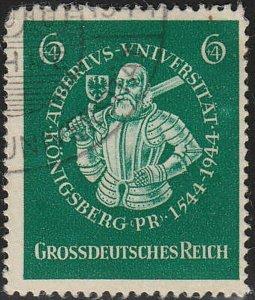Stamp Germany Mi 896 Sc B280 1944 WWII Fascism Albert Prussia Duke Albert Used