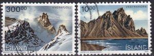 Iceland #728, 737  F-VF Used CV $3.80 (Z2436)
