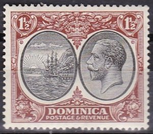 Dominica 1923 Scott # 69 Colony Seal and George the V MHR