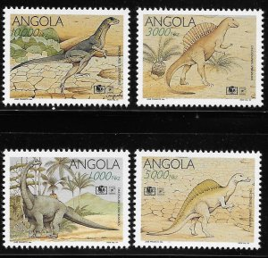Angola 1994 Dinosaurs Sc 906-909 MNH A1319