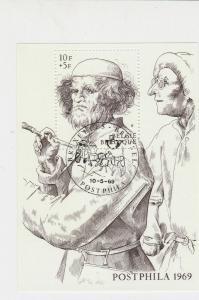 Belgium Artist Painter 1969 Special Cancel Stamp Sheet ref R 17787