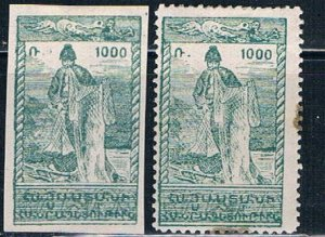Armenia 287 MLH pair Perf and Imperf 1921 (HV0403)