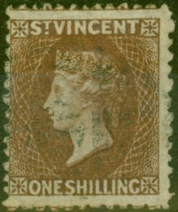 St Vincent 1869 1s Brown SG14 Fine Used (2)