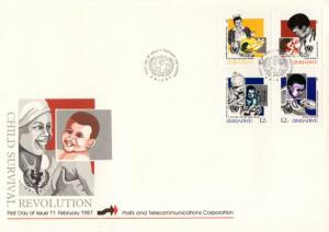 Zimbabwe - 1987 Child Survival Campaign FDC SG 706a
