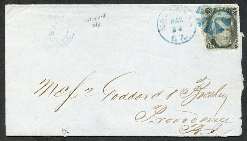 US SAVANNAH, GA 3/29/1867 2C BLACK JACK FOLDED LETTER WITH PRICE LIST AS SHOWN