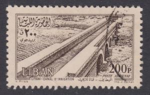 Lebanon Airmail # C191 , Litani Irrigation Canal , F-VF used - I Combine S/H