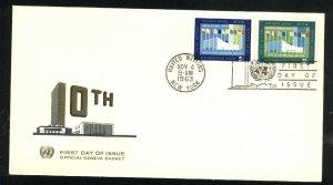 UN New York 119,120   FDC Unused 1963 PD