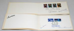 2 UNITED NATIONS Souvenir Covers Postage Stamps FDC Collection New York Signed