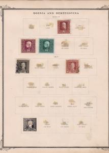 bosnia & herzegovina stamps on 2 album page ref 13431