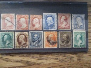 Pre 1900 US Postage Stamp Lot of 12v Higher Grade/Condition Used(maybe mint?)