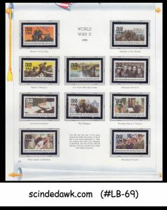 USA - 1995 WORLD WAR II - 10V - MINT NH