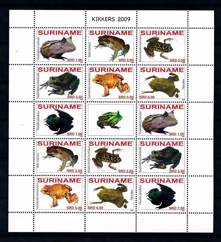 [SUV1586] Surinam Suriname 2009 Frogs Miniature Sheet with tab MNH