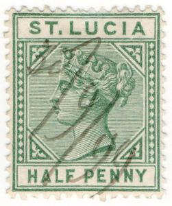 (I.B) St Lucia Revenue : Duty Stamp ½d