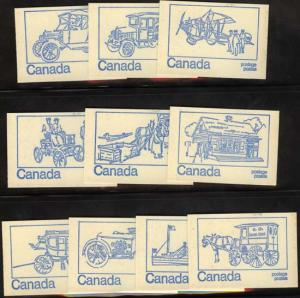 Canada - 1972 Blue Cover Booklets X 10 Covers #BK71e