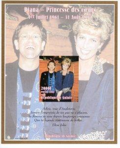 Guinea 1998 YT#124  Sir Elton John & Diana Princess Souvenir Sheet IMPERF.MNH