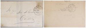 O) 1904 CUBA, CARIBBEAN - SPANISH ANTILLES. KING ALFONSO XII, 10c, FROM CADIZ