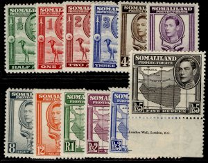 SOMALILAND PROTECTORATE GVI SG93-104, complete set, LH MINT. Cat £150.