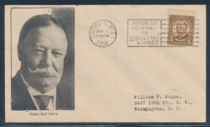 #685 ON GORHAM FDC CACHET TAFT JUNE 4,1930 CINCINNATI, OH CV $160 BU1532