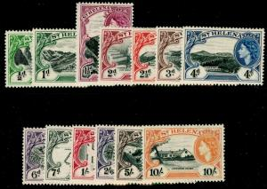 ST. HELENA SG153-165, COMPLETE SET, LH MINT. Cat £85.